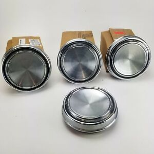 1967 Vintage Ford Mustang Gt Hubcaps Plain Wheel Covers Center Caps Set Of 4