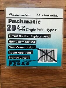 Ite Pushmatic Circuit Breaker P220 20a Twin Single Pole New Mis marked Package