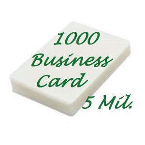 1000 Business Card 5 Mil Laminating Pouches 2 1 4 X 3 3 4 Scotch Quality Fast Sh