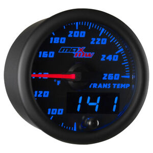 Used Black Blue Maxtow Double Vision Transmission Temperature Gauge W Sensor