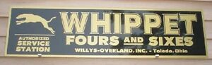 C 1920 s Style Whippet Classic Early Motorcar Auto Dealer Sign ad Garageart