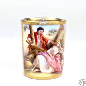Antique Miniature Royal Vienna Hand Painted Cabinet Cup Coffee Tea Tasse Pc