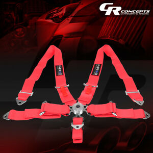 Nrg Universal 5 point Cam Lock 3 w Safety Racing Seat Belt Harness Sbh r6pcpk