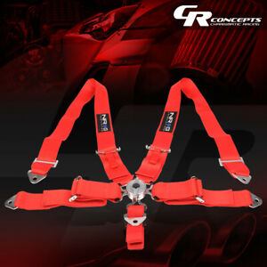 Nrg Universal 5 point Cam Lock 3 w Safety Racing Seat Belt Harness Sbh r6pcrd