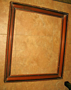 Nice Large Antique Walnut Deep Wood Picture Frame Inside 21 X 25 Out 25 X 28 1 2