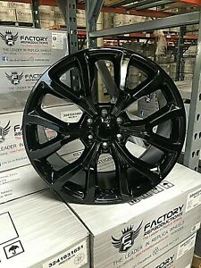 22 Ford F150 Expedition Style Gloss Black Wheels Rims Set Fits For 04 20