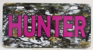 Hunter Camo Pink Vanity License Plate 6 X 12 Metal Made In Usa