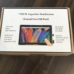 7 Inch 1024x600 Capacitive Touch Screen Hdmi Lcd Display For Raspberry Pi bb ma