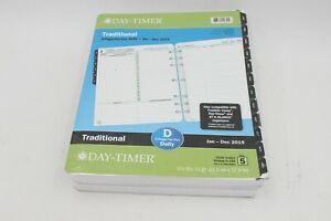 Day timer 2019 Daily Planner Refill Two Pages Per Day 8 1 2 X 11 94800
