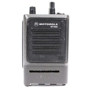 Motorola Mt1000 16 Channel Portable Fm Hand Held Radio Only Tested