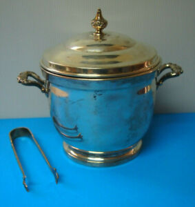 Sterling Silver Ice Bucket By Poole With Tongs