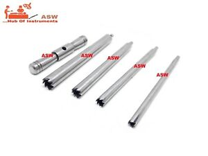 Set Of Hollow Mill For Removal Of Bone Screws Extractor Orthopedic Instrument