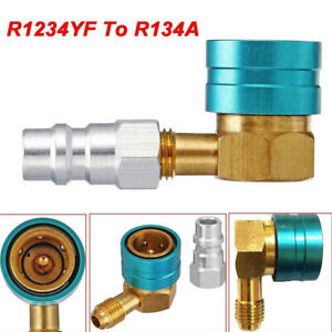 R1234yf To R134a Low Side Coupler Adapter Car A C Air Conditioner Fitting Angle