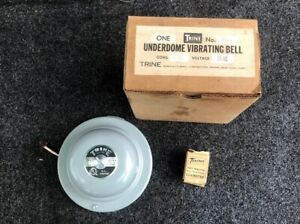 Trine 204a Vintage Fire Alarm Bell Underdome Vibrating Bell