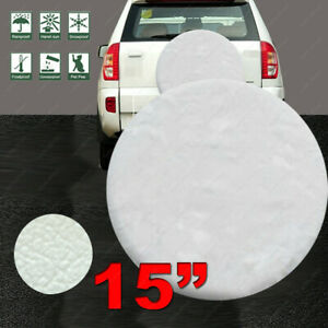 15 Inch Spare Tire Cover Soft Wheel Protection 27 29 For Toyota Rav4 White M