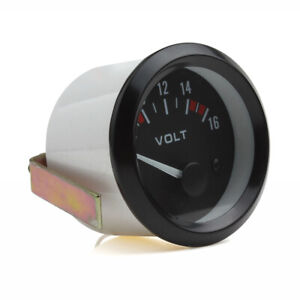 2 Inch 52mm Digital Led Electrical Volt Voltage Meter Gauge Boat Car Auto 8 16v