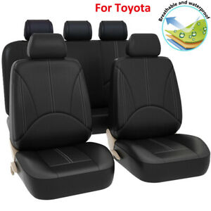 Universal Leather Car Seat Cover Accessories Fit For Toyota 4runner Rav4 Yaris