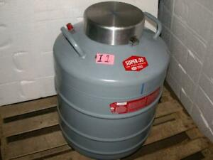 2 Linde Super 30 Dewar Liquid Nitrogen Tank Vessel With 10 Canister Cryogenic