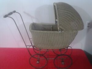 Antique Wicker Baby Carriage F A Whitney Carriage Co