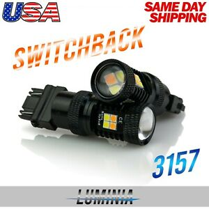 Luminia 3157 Led Switchback 3030 Smd Dual Color White Yellow Turn Signal Light