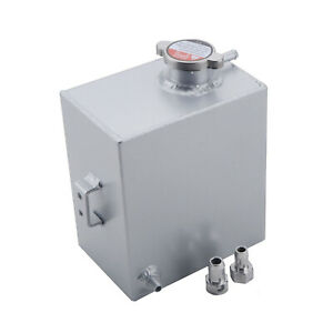 Universal Aluminum Coolant Overflow Expansion Recovery Tank 2 5l And Cap