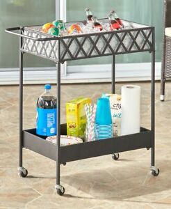 Rolling Cart With Galvanized Liner