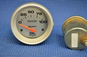 Nice Used Autometer 4427 Pro Comp Oil Pressure Gauge 2 5 8 In Electrical