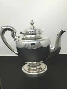 925 Sterling Silver Teapot Tea Pot Coffee Mexico 40 Oz Heavy Estate Fancy