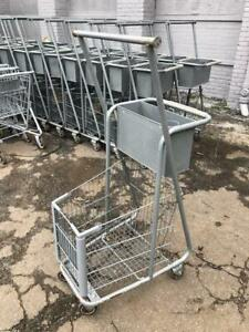 Shopping Carts W Clothing Rack Hang Bar Lot 10 Small Basket Used Store Fixtures