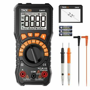 Digital Multimeter 6000 Counts Tacklife Dm09 Trms Ncv Detection Amp Ohm Volt Lcd