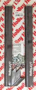 Holley 534 219 Fuel Rail Hi flow 8an Female O ring In out Black