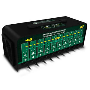 Battery Tender Battery Charger 10 Bank 12 6v 4a 4 Step Charge W 10 Output Cables