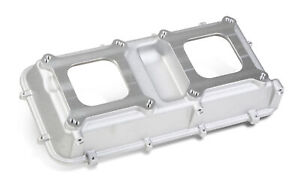 Holley 300 216 Tunnel Ram Top Plate Dual Carb Inline Square Bore Al