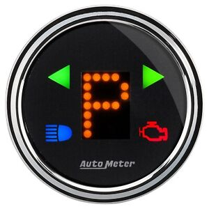 Auto Meter 1460 Shift Indicator Gauge Prndl Electric Digital 2 1 16 D Black Face