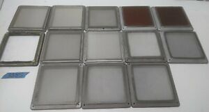 Lot Of 13 Solid Aluminum Frame Silk Or Stainless Screen Appox 6 625 X 6 625