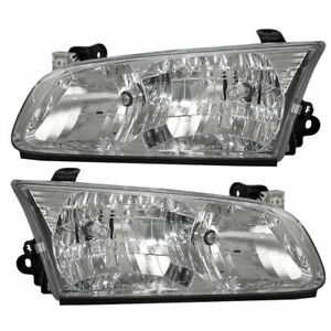 2000 2001 For Ty Camry Headlights Right Passenger Left Driver Pair