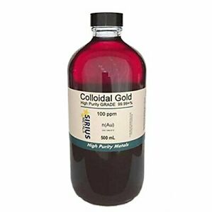 True Colloidal Gold no Chemicals 500 Ml Of 100 In Glass Bottle