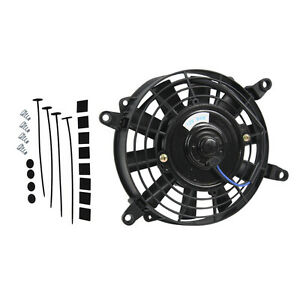 7 Inch 12v Volt Electric Cooling Fan Thermo Fan Mounting Kits Brand New