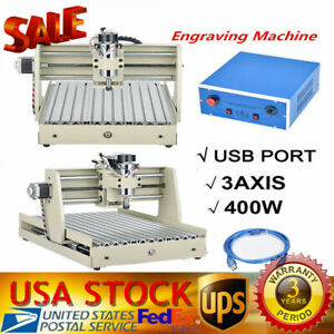 Usb 3 Axis Cnc Router Engraver 400w 3040 3d Cut Carve Drill Machine Woodworking
