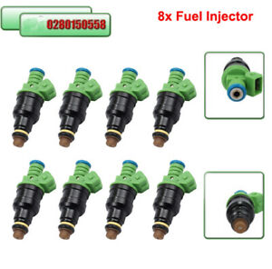 Set 8 0280150558 42lbs Fuel Injector Green 440cc Ev1 42 Lb Hr For Ford Chevrolet