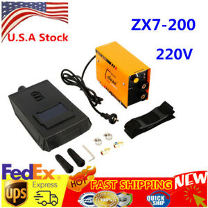 Zx7 200 Mini Mma Arc Welder Dc Igbt Welding Machine Solder Inverter 220v Mask