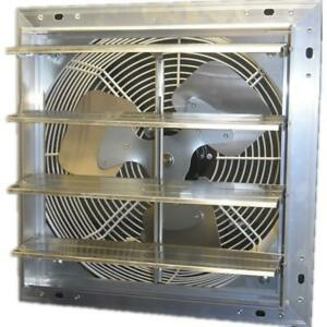 Variable Speed Exhaust Fan 12 In 900 Cfm Power Shutter Mounted Electric Wall