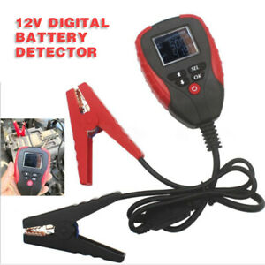12v Digital Car Battery Tester Analyzer Ah Cca Voltage Diagnostic Detector Tool