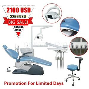 Computer Controlled Dental Chair Fda Hard Leather Doctor Stool Sky Blue Big Sale