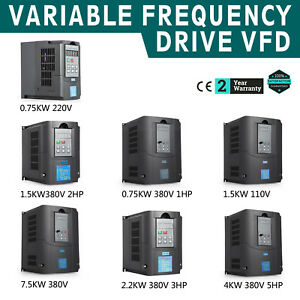 1 5kw 3kw 4kw 7 5kw Variable Frequency Drive Inverter Three Phase Speed Vfd 220v