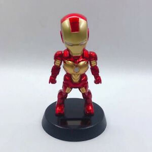 Car Accessory Decoration Gold Iron Man With Shaking The Head Dashboard Doll Nod