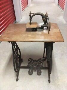 Vintage Antique 1872 Cast Iron Willcox Gibbs Treadle Complete Sewing Machine