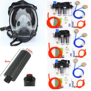 Painting Spray Supplied Air Fed Respirator System With 6800 Full Face Gas Mask