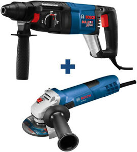 Bosch Bulldog Xtreme 8a Variable Speed Sds Hammer Drill And Amp 4 1 2in Angle