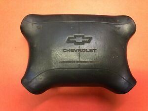 1995 1997 Chevy Logo C1500 Tahoe Suburban Driver Air Bag Gray Used Oem
